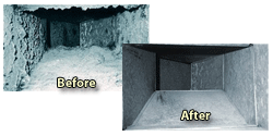 Inside your Air Ducts, before and after air duct cleaning